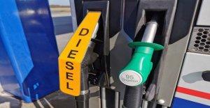 Während der Wartezeit für den diesel werden billiger an die Pumpe